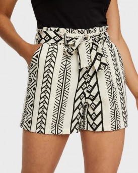 Vero Moda Boho Shorts - 10225198 - ΕΚΡΟΥ