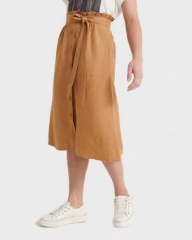 Superdry Skirt Eden Linen - W7210009A - ΚΑΜΕΛ