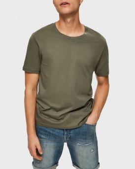 Selected T-Shirt Pima Cotton - 16059491 - ΛΑΔΙ