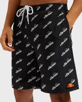 Ellesse Print Swim Shorts - SΑΕ08552 - ΜΑΥΡΟ