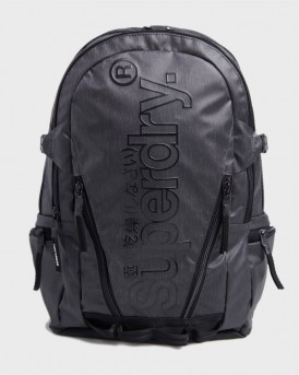 Superdry Trap Backpack Camo - M9110026Α - ΜΑΥΡΟ