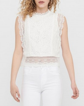 Only Top Cropped Lace - 15204604 - ΑΣΠΡΟ
