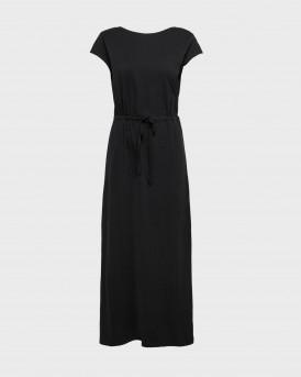 Only Dress Maxi Drawstring - 15202995 - ΜΑΥΡΟ