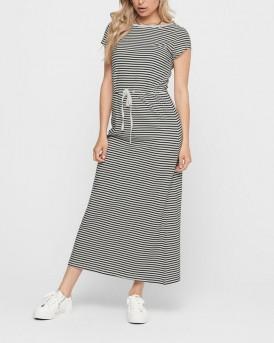 Only Dress Maxi Drawstring - 15202995 - ΜΠΛΕ
