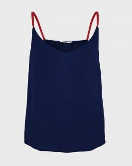 Tommy Jeans Cami Top Branded Straps - DW0DW07957 - ΜΠΛΕ