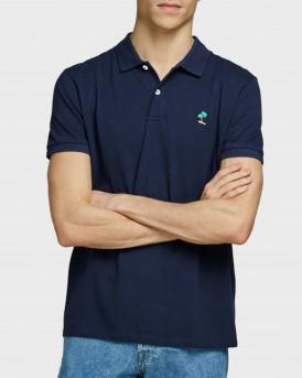 Jack & Jones Polo Embroidered - 12171670 - ΜΠΛΕ