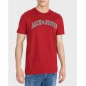 Jack & Jones T-Shirt Logo Print Crew Neck -  - ΜΠΛΕ