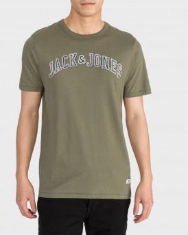 Jack & Jones T-Shirt Logo Print Crew Neck -  - ΛΑΔΙ