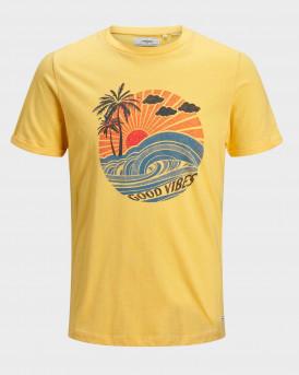 Produkt T-Shirt Photo Print Crew Neck - 12170716 - ΚΙΤΡΙΝΟ