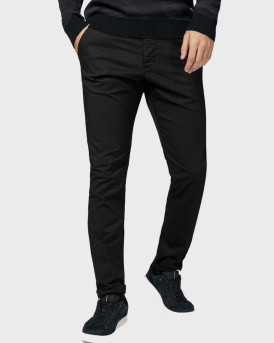 Produkt Trousers With Organic Cotton - 12155017 - ΜΑΥΡΟ
