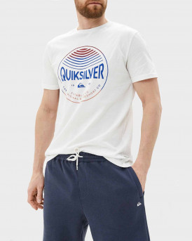 Quiksilver T-Shirt Colors in Stereo - EQYZT05742 - ΑΣΠΡΟ
