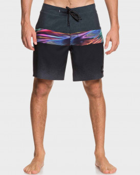 "Quiksilver Board Shorts Highline Hold Down 18"" Black - ΕQYBS04321 - ΜΑΥΡΟ"