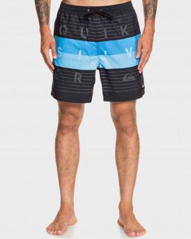 """Quiksilver Swim Shorts Word Block 17"""" - EQYJV03550 - ΜΑΥΡΟ"""