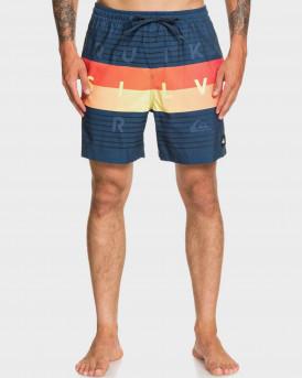 "Quiksilver Swim Shorts Word Block 17"" - EQYJV03550 - ΜΠΛΕ"