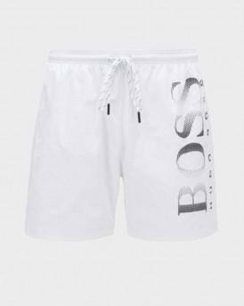 Boss Swim Shorts Logo-print In Technical Fabric - 50371268 OCTOPUS - ΑΣΠΡΟ