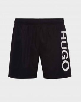 Hugo Swim Shorts Logo In Quick-drying Fabric - 50429269 ΑΒΑS - ΜΑΥΡΟ