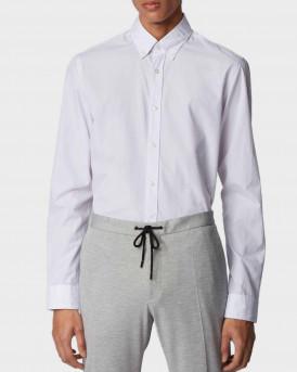 Βoss Shirt In Dobby Cotton - 50426734 ROD - ΜΠΕΖ