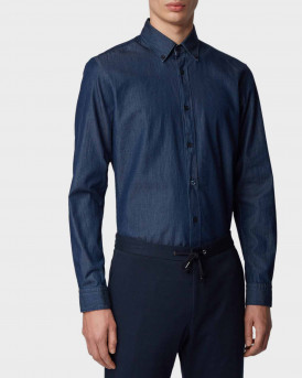 Boss Shirt Button-down In Denim Twill - 50427220 ROD - ΜΠΛΕ