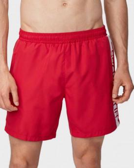 Boss Swim Shorts Medium-length Logo Print - 50407595 DOLPHIN - ΚΟΚΚΙΝΟ