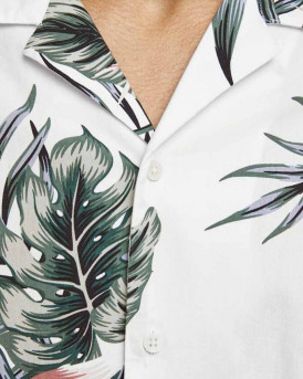 Jack & Jones Πουκάμισο Short Sleeved Botanical Print - 12170678 - ΑΣΠΡΟ