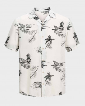 Jack & Jones Πουκάμισο Short Sleeved Palm Print - 12170842 - ΑΣΠΡΟ