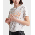 Superdry T-Shirt Originals Dot - W1010033A - ΕΚΡΟΥ