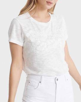 Superdry T-Shirt Embroidery Tinsley - W6010154A - ΕΚΡΟΥ