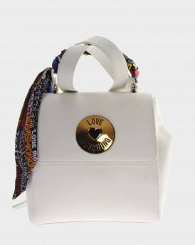 Love Moschino Backpack Scarf Embellished - JC4047PP1ALG0 - ΑΣΠΡΟ