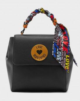 Love Moschino Backpack Scarf Embellished - JC4047PP1ALG0 - ΜΑΥΡΟ