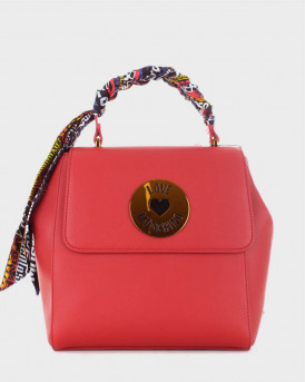 Love Moschino Backpack Scarf Embellished - JC4047PP1ALG0 - ΚΟΚΚΙΝΟ