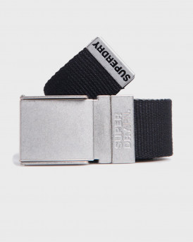 Superdry Belt Reverse Canvas - M9210022Α - ΜΑΥΡΟ