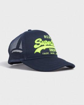 Superdry Trucker Cap With Vintage Logo - M9010070A - ΜΠΛΕ