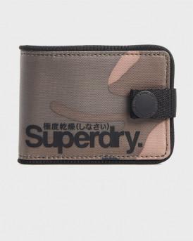Superdry Πορτοφόλι Tarp One Popper Wallet - M9810017A - ΧΑΚΙ