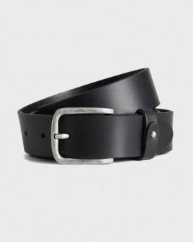 Jack & Jones Leather belt - 12168871 - ΜΑΥΡΟ