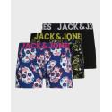 Jack & Jones Trunks 3 Pack Colourfull Skull Print - 12171604 - MULTI