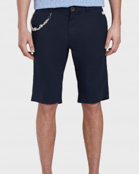 Tom Tailor Chino Shorts With a Drawstring Pendant - 1016428.XX.10 - ΜΠΛΕ