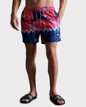 Superdry Swim Shorts With Τie Dye Print - M3010030A - ΡΟΖ