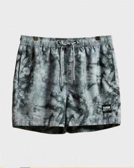 Superdry Swim Shorts With Τie Dye Print - M3010030A - ΓΚΡΙ