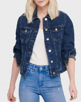 Only Jacket Short Denim - 15199869 - ΜΠΛΕ