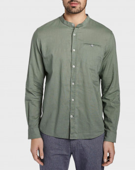 Tom Tailor Shirt With Mao Collar - 1017354.ΧΧ.10 - ΛΑΔΙ