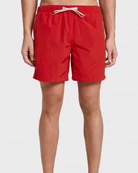 Tom Tailor Swim Shorts With Slanted Pockets - 1016510.ΧΧ.10 - ΚΟΚΚΙΝΟ