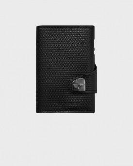 Tru Virtu Πορτοφόλι Click & Slide Diagonal Carbon - 24104000418 - ΜΑΥΡΟ