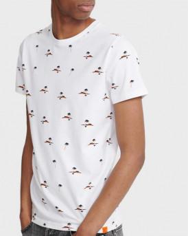 Superdry T-Shirt Printed Aop - M1010060Α - ΑΣΠΡΟ