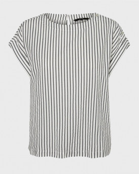 Vero Moda Top O-Neck - 10225754 - ΑΣΠΡΟ