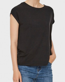 Vero Moda T-Shirt Aware - 10187159 - ΜΑΥΡΟ