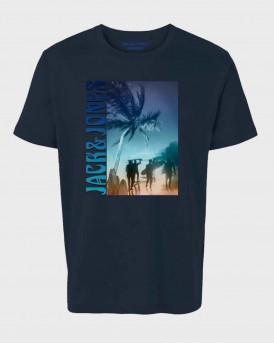 Jack & Jones T-Shirt Crew Neck - 12184918 - ΜΠΛΕ