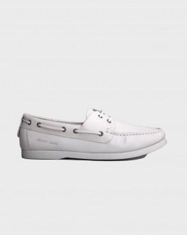 Armani Jeans Ανδρικά Παπούτσια Boat Shoes - A6573Z3 - ΑΣΠΡΟ