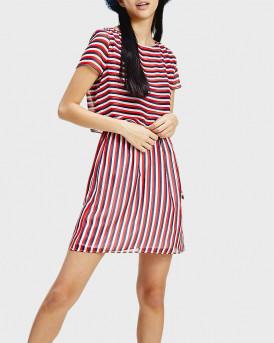 Tommy Hilfiger Φόρεμα Waist Stripe - DW0DW07922 - ΚΟΚΚΙΝΟ