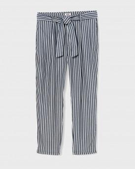 Tommy Hilfiger Παντελόνι Stripe Tie Βelt Trousers - DW0DW08067 - ΡΑΦ