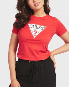 Guess Τ-Shirt Triangle Logo - W0YI57K8HM0 - ΚΟΚΚΙΝΟ